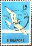 Sellos de Asia - Singapur -  Intercambio nfxb 0,20 usd 15 cent. 1966