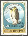 Sellos del Mundo : Asia : Mongolia : Aptenodytes forsteri-pingüino emperador