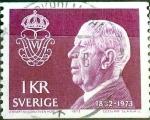 Sellos del Mundo : Europa : Suecia : Intercambio 0,20 usd 1 krone 1973