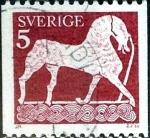 Sellos de Europa - Suecia -  Intercambio 0,20 usd 5 ore 1973