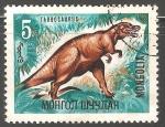Stamps Mongolia -  Tarbosaurus-