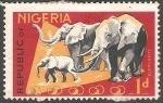 Sellos del Mundo : Africa : Níger : Elefantes