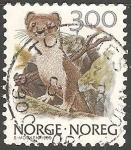 Sellos de Europa - Noruega -  Mustela erminea-armiño