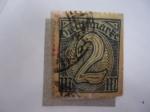 Sellos de Europa - Alemania -  Cifras-Reich - 2 peniques - Dienftmark.