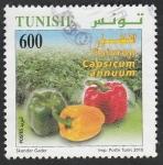 Stamps Tunisia -  Pimientos