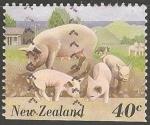 Sellos del Mundo : Oceania : Nueva_Zelanda : Cerdos