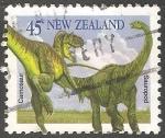 Sellos del Mundo : Oceania : Nueva_Zelanda : Sauropod-Dinosaurio