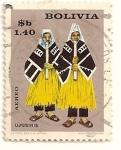 Stamps Bolivia -  Folklore, indios Ujusiris