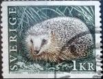 Sellos de Europa - Suecia -  Intercambio 0,30 usd 1 krone 1996