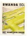Sellos de Africa - Rwanda -  Prevencion contra la erosion.
