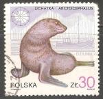 Sellos del Mundo : Europa : Polonia :  Arctocephalus-lobo marino