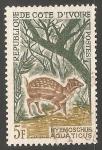 Stamps Ivory Coast -  Hyemoschus aquaticus-antilope