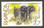 Sellos del Mundo : Africa : Rwanda : Programa Ambiental de las Naciones Unidas -elefantes