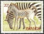 Sellos del Mundo : Africa : Rwanda : Zebras