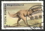 Sellos de Europa - Rumania -  Megalosaurus-dinosaurios