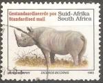 Sellos de Africa - Sudáfrica -  Diceros bicornis-rinoceronte negro