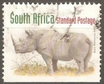 Stamps South Africa -   Black rhinoceros-Rinoceronte negro