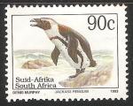 Sellos del Mundo : Africa : Sudáfrica : Jackass penguin-pingüino de El Cabo
