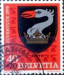 Stamps Switzerland -  Intercambio 0,25 usd 40 + 20 cent. 1979