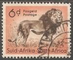 Sellos de Africa - Sudáfrica -  Leon