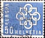 Stamps Switzerland -  Intercambio 0,45 usd 50 cent. 1959