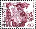 Sellos de Europa - Suiza -  Intercambio 0,20 usd 40 cent. 1977