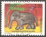 Sellos de Europa - Suecia -  Elefante