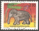 Sellos del Mundo : Europa : Suecia : Elefante
