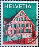Sellos de Europa - Suiza -  Intercambio 0,25 usd 80 cent. 1973