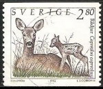 Sellos de Europa - Suecia -  Radjur-ciervo
