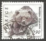 Sellos del Mundo : Europa : Suecia : Brunbjörn-oso café