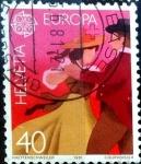 Stamps Switzerland -  Intercambio nfxb 0,35 usd 40 cent. 1981