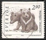 Sellos del Mundo : Europa : Suecia : Brunbjorn -oso pardo
