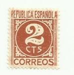 Sellos de Europa - España -  CIFRAS REPUBLICA ESPAÑOLA