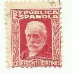 Sellos de Europa - España -  REPUBLICA ESPAÑOLA - Pablo Iglesias