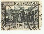Sellos de Europa - España -  REPUBLICA ESPAÑOLA-III Centenario-Lope de Vega