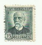 Stamps Europe - Spain -  REPUBLICA ESPAÑOLA - Nicolas Salmeron