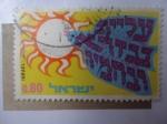 Sellos de Asia - Israel -  Paloma de la Paz - Sol -