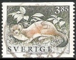 Sellos del Mundo : Europa : Suecia : Mustela erminea-Mustela erminea