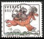 Sellos del Mundo : Europa : Suecia : Año nuevo chino-dibujos animados