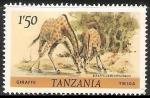 Sellos del Mundo : Africa : Tanzania : Jirafa