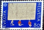 Stamps : Europe : Switzerland :  Intercambio jcpf 1,00 usd 80 cent. 1982