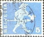 Sellos de Europa - Suiza -  Intercambio 0,20 usd 5 cent. 1960