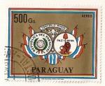 Stamps America - Paraguay -  Correo aereo. Escudo de armas de Paraguay.