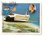 Stamps Paraguay -  Primera mision espacial de la nave Columbia.