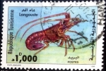 Stamps : Africa : Tunisia :  Intercambio 1,10 usd 1000 m. 1998