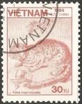 Sellos de Asia - Vietnam -  Felis marmorata-Gato jaspeado