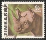 Sellos del Mundo : Africa : Zimbabwe : Rinoceronte
