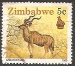 Sellos del Mundo : Africa : Zimbabwe : Greater kudu-antílope africano