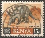 Sellos de Africa - Kenya -  Ant bear-cerdo hormiguero
